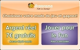Gratorama Compte réel Compte démo